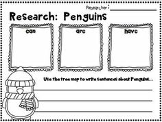 """FREEBIE in the PREVIEW!!!  Penguins~ Informational Text and Literature Mini Unit for 1st-2nd Grades!  This is a great mini unit for learning how to do """"simple research""""!  PENGUINS are SNOW much FUN!"""