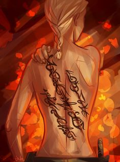 LOVE this TOG fan-art! [Scars - Celaena by taratjah on DeviantArt]