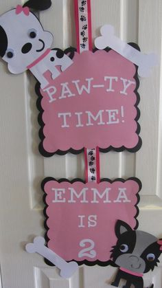 It's PAW-TY Time! Cute slogan for an animal or a Cub Scout (Wolf, Bear, Bobcat) activity