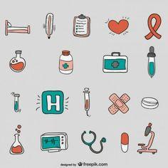 Hand drawn hospital vectors