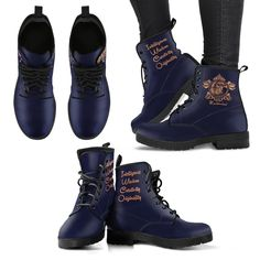 Product Details: Features eco-friendly leather with a double-sided print and rounded toe construction. Lace-up closure for a snug fit. Soft textile lining with