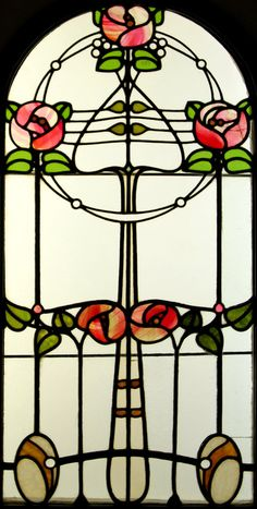 Stained Glass Window by Róth Miksa (Hungarian, 1865-1944)