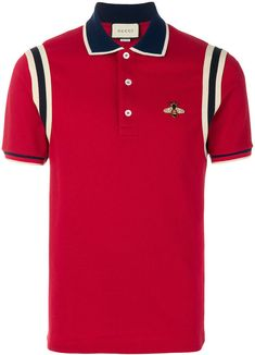 743426e86 Gucci bee embroidered polo shirt #Gucci #shirt #ShopStyle #MyShopStyle  click link to