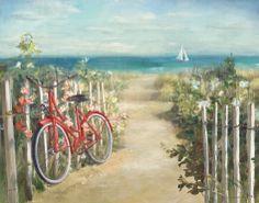 Danhui Nai Poster Print Wall Art Print entitled Summer Ride Crop, None Mural Wall Art, Framed Wall Art, Canvas Wall Art, Canvas Prints, Big Canvas, Painting Prints, Watercolor Paintings, Fine Art Prints, Watercolors