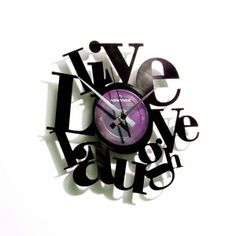 Horloge vinyle Philosophie ATYLIA Horloge Murale Design, Meuble Design,  Contemporain, Disque Vinyle, 050808f6d2dc