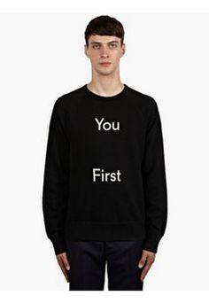 Men's You First Slogan College Sweatshirt