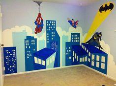 Super heroes wall