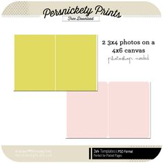The 6x6 Print - | FREEBIES | Pinterest | Project life, Template and Free