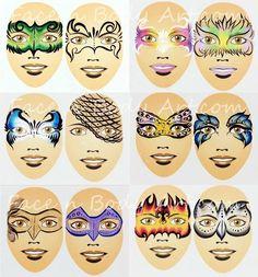 Resultado de imagen para shawna d design face painting Adult Face Painting, Painting For Kids, Face Painting Designs, Paint Designs, Face Outline, Fantasy Make Up, Face Paint Makeup, Clown Faces, Kids Makeup