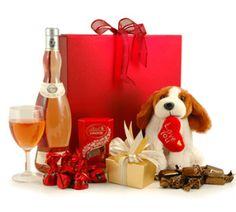 Valentine's Day Rosé, Chocs & Cuddly Puppy