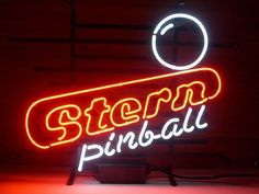 Stern Pinball Game Room Neon Sign