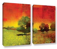 Drenched Grace by Greg Simanson 2 Piece Graphic Art on Wrapped Canvas Set