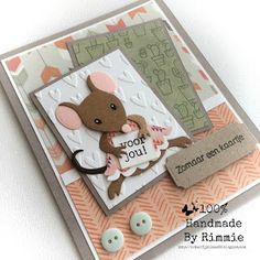 Handmade By Rimmie Candy Crafts, Paper Crafts, Marianne Design Cards, Kids Birthday Cards, Cricut Cards, Stamping Up Cards, Animal Cards, Card Sketches, Cool Cards