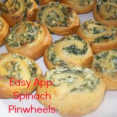 Spinach Pinwheels. Tried and true crowd pleasers. AND, they're easy. Done and done. #appetizer #recipe