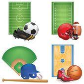 Sport Icons Set — Vetor de Stock