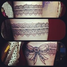 The classic thigh garter is enjoying a revival---in ink, that is! Undoubtedly one of the sexiest places a girl can get a tattoo, a thigh tattoo is as easily hidden as it is shown off on a whim. View a range of garter tattoos for girls, from simple...
