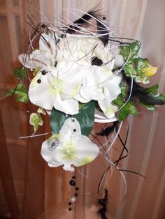 Bouquet De Mari E Rond Avec Orchid E Phalaenopsis Rose Bouquet Claire Pinterest Orchid E