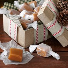 Caramels Recipe Desserts with butter, sugar, light corn syrup, sweetened…