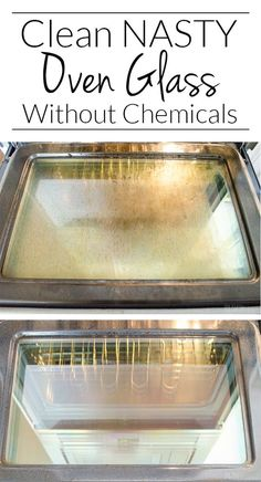 SPRING CLEANING TIP - Cleaning oven glass doesn't have to take all day! This NO SPRAY CHEMICAL tip is so simple, I wish I would have thought of it!