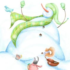 Well I am 2 days late but life happened =D #kidlitart #illustration #picturebooks #illustration #childrensillustration #childrenbooks #characterdesign #clipstudiopaint #digitalpaint #digitalart #kidlitart #picturebooks #picturebooksofinstagram #colour_collective #snowman #holidays