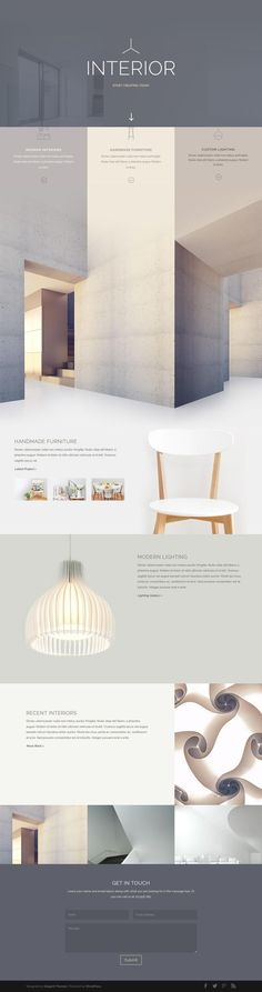Minimal yet magnificent. Superb photography combined with comfortable pastel colors creates a relaxed and impactful design.: