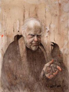 "Saatchi Art Artist Ricardo Miranda; Drawing, ""The Raven"" #art"