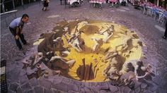 Arte - Pintura Grafite 3D Kurt Wenner Dies Irae Dia da Ira 2005 Mantua Italia Blog do Mesquita