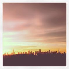 NYC skyline at sunset; now available on canvas!