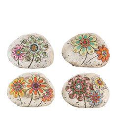 Garden Gems Flower Stone Set