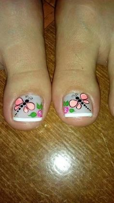 Libelula Toe Nail Art, Toe Nails, My Beauty, Beauty Nails, French Pedicure, Toe Nail Designs, Have Some Fun, Mani Pedi, Summer Nails