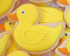 Rubber ducky more baby cookies, baby shower Duck Cookies, Fancy Cookies, Iced Cookies, Easter Cookies, Sugar Cookies, Duck Cupcakes, Baby Shower Duck, Rubber Ducky Baby Shower, Galletas Decoradas Royal Icing