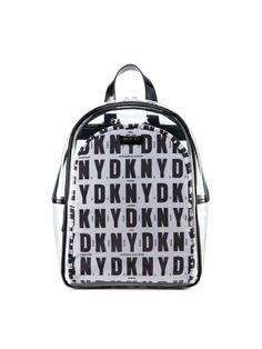 44b8ebb952 Clear DKNY Logo Backpack - DKNY Fly London