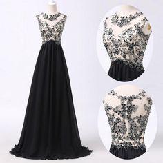 Vestido comprido preto