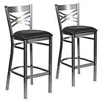 Zuo Modern Faux Leather Upholstered Darwen 30 Bar Stools In Red Set Of 2 Bed Bath And Beyond Canada In 2020 Bar Stools Metal Bar Stools Flash Furniture
