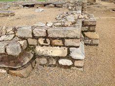 Stonework for grain store Vindolander Roman Fort Hexham. Northumberland NE47 7JN UK  5/9/16