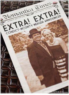 Style Unveiled - Style Unveiled | A Wedding Blog - Newspaper Wedding Invitation ... Start Spreading theNews!