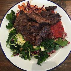 Steak and salad #food
