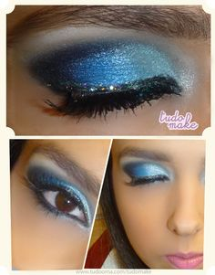 Pretty blue make up
