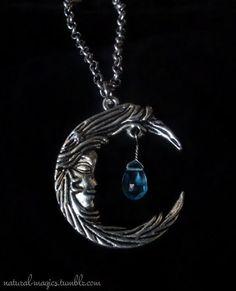 Blue Topaz Moon Necklace by NaturalMagics - https://www.etsy.com/shop/naturalmagics