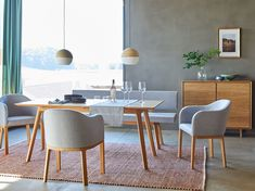 Esszimmermöbel – Join the world of pin Dining Chairs, Dining Table, Furniture, Home Decor, Family Dining Rooms, White Bench, Green Earth, Dining Room Modern, Wood Joints