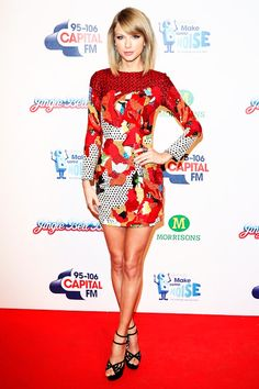 Taylor Swift attends the Capital FM Jingle Bell Ball in London