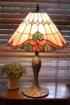 Tiffany Style Stained Glass Table Lamp With by PickersWarehouse