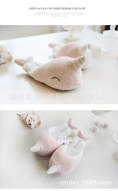 e24119c2bf2 High quality New Narwhals Warm Home Female Cotton Slippers Winter Antiskid  Indoor Floor unicorn plush women girls slipper