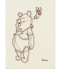 Janlynn Winnie The Pooh Sketch Cntd X-Stitch Kit: counted cross stitch kits: cross stitch: yarn & cross stitch: Shop   Joann.com