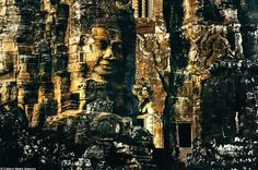 Bayon Temple beautiful as a work of sculpture.