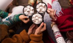 Alcoholic marshmallows and hot coco for cozy fall days