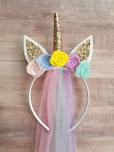 This unicorn headband is perfect for all unicorn birthday partys, unicorn lovers, costume parties and just makes an absolute fabulous gift!  You dont have to be a kid to enjoy this headband they fit all sizes!! I recommend ages 2 and up... They do fit a one year old but they have a