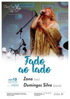 """""""Duetos da Sé"""", #Alfama #Lisboa #Lisbon - SÁBADO 10 DE FEVEREIRO 2018 – 21H30 - CONCERTO """"IN FADO"""" - """"FADO AO LADO"""" -  Zana (voz) & Domingo Silva (piano) -  A cantora e fadista Zana apresenta o espectáculo """"Fado ao Lado""""no Duetos da Sé, uma noite para apreciar o Fado na sua essência, com uma voz intensa e emotiva. Zana será acompanhada ao piano por Domingos Silva.   fado - fados – música Portuguesa – Portuguese music..."""