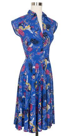 Trashy Diva Circle Day Dress | Vintage Inspired Dress | Venice Nights