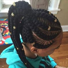 Dope braid pattern and accents by @narahairbraiding - https://blackhairinformation.com/hairstyle-gallery/dope-braid-pattern-accents-narahairbraiding/